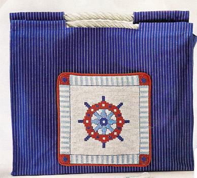 Bag in a nautical theme. A little cross-stitch
