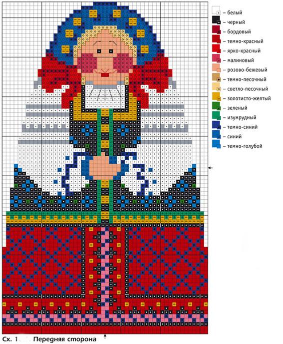 Matryoshka. Bulk cross stitch