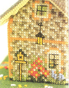 Cottage of Sandstone. Bulk cross stitch