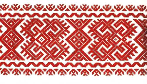 geometric ornament in embroidery