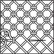 Decorative mesh seam Set