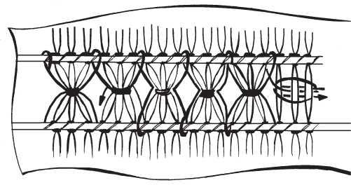Merezhka polotnyanko 2 row hemstitch of air loops