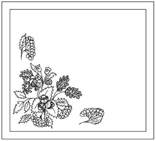 A napkin Autumn bouquet