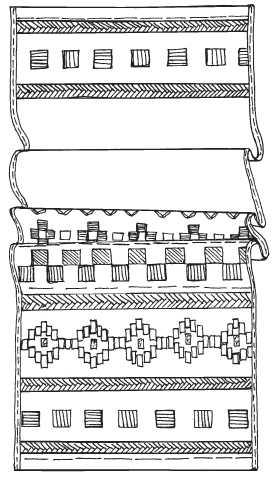 Скатерть с геометрическим рисунком