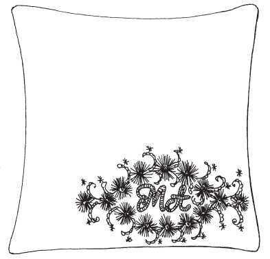 Pillow case with the initials