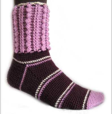 В'язання шкарпеток гачком