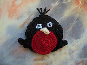 Crochet applique crochet Snegir