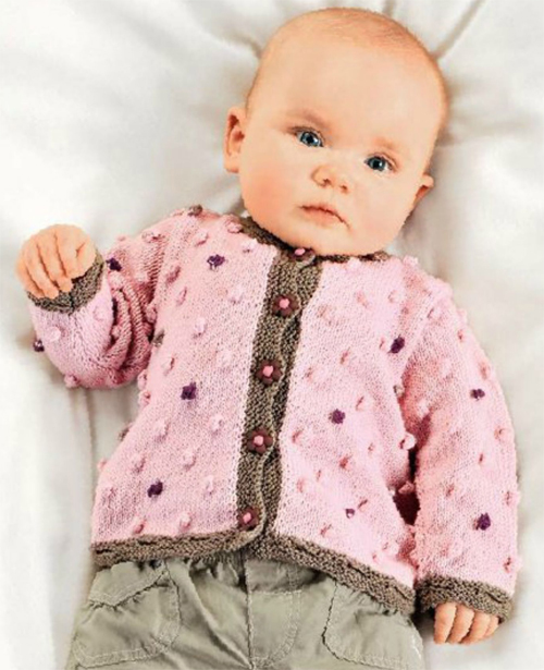 Pink sweater for baby girl 6 - 18 months spokes