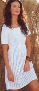 Платье летнее, связанное спицами
