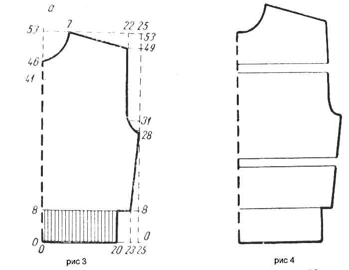 Построение выкройки для вязания