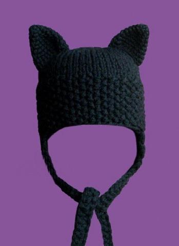 Как вязать ушки на шапке