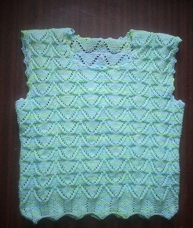 Children's summer knitted top for girls
