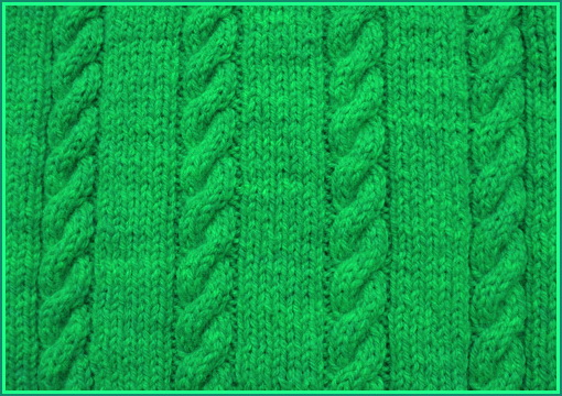 How to knit pattern braid